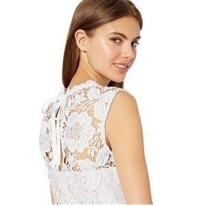 Nanette Lepore sleeveless Floral Lace Top NWOT